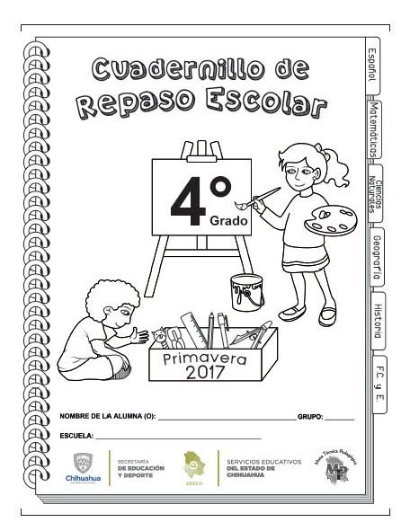 Cuadernillo de repaso del cuarto grado del ciclo escolar 2016 - 2017 ...