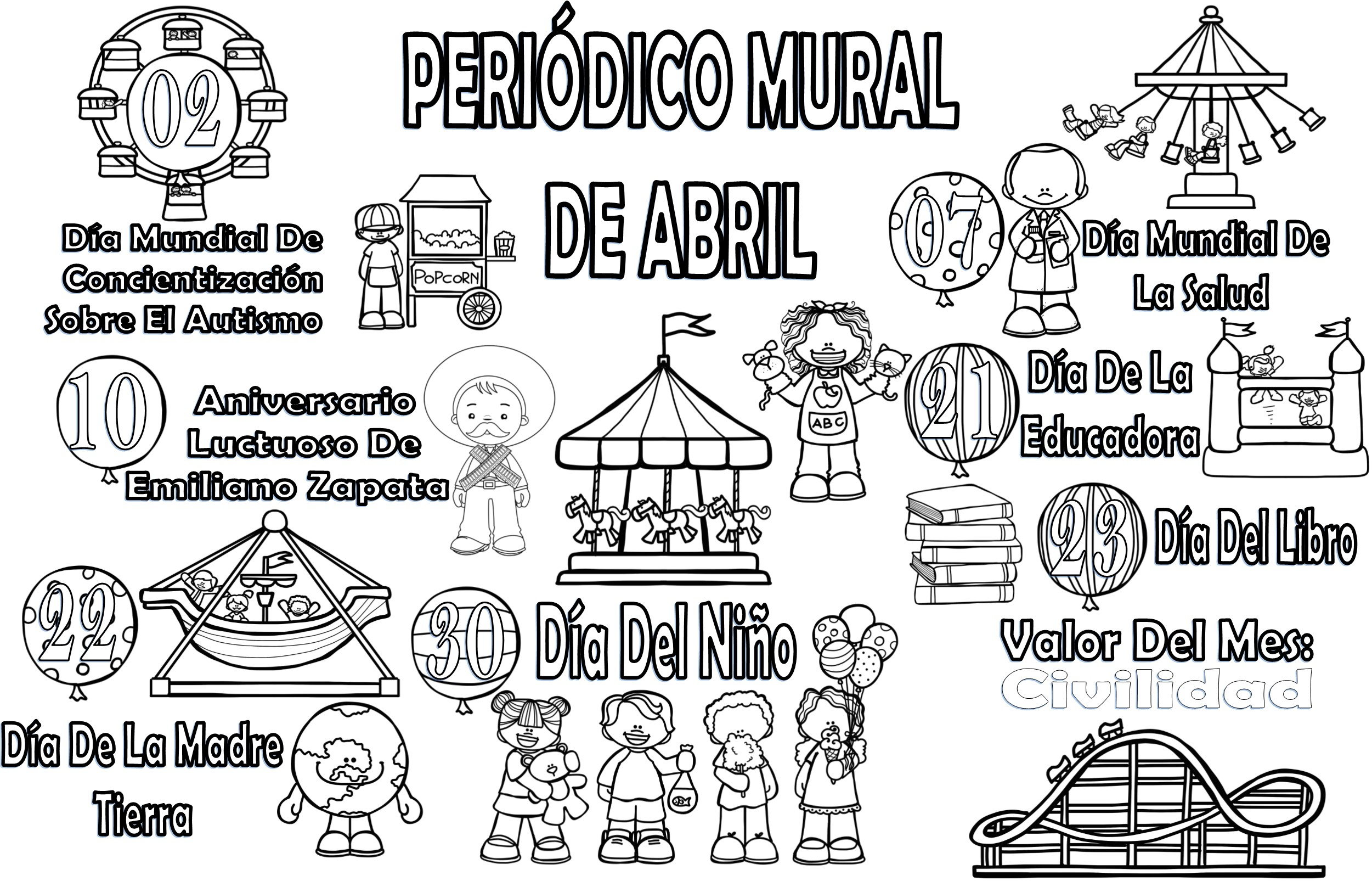 Periodico Mural De Abril Para Secundaria
