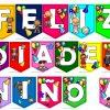 Bonitos y fabulosos banderines de FELIZ DÍA DEL NIÑO