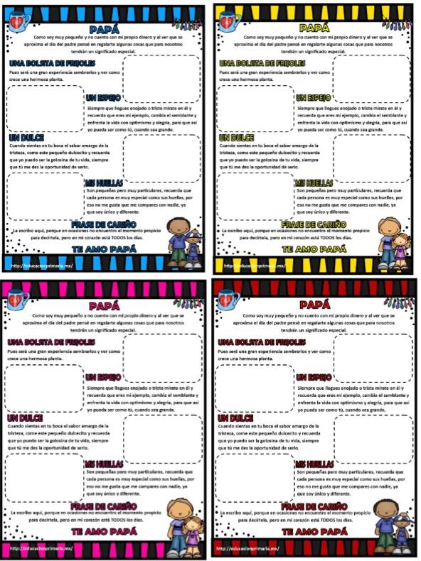 Creativa Y Original Carta Para El Día Del Padre Material Educativo