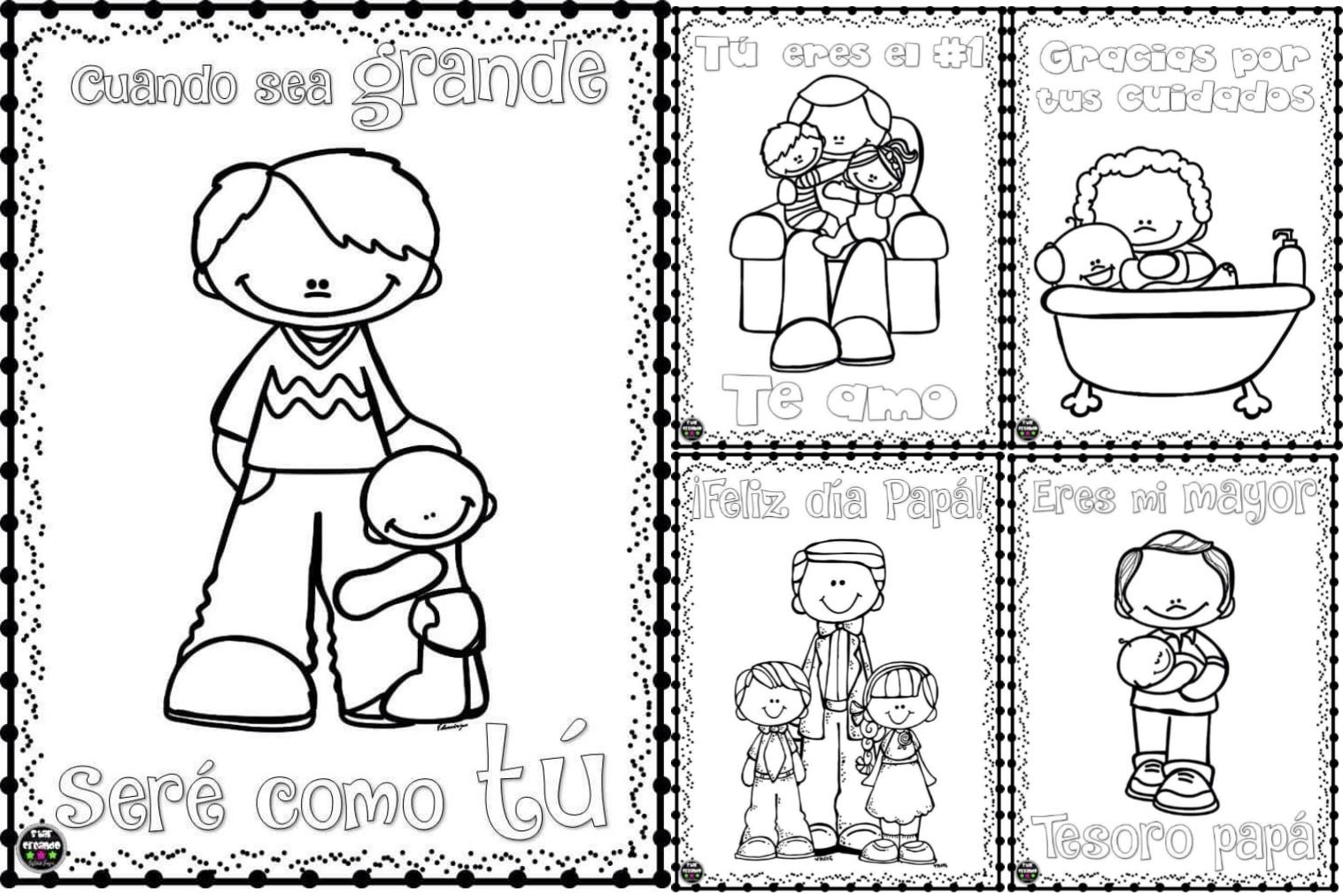 Lindos dibujos para colorear y celebrar el día del padre | Material ...