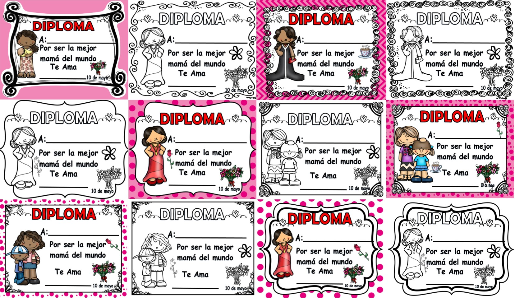 diplomas para imprimir y editar