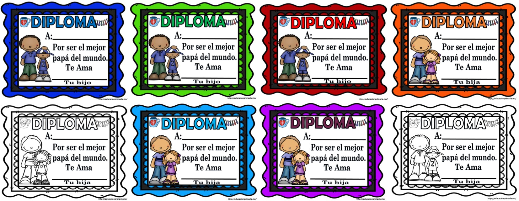 Estupendos diplomas para el da del padre  Material Educativo