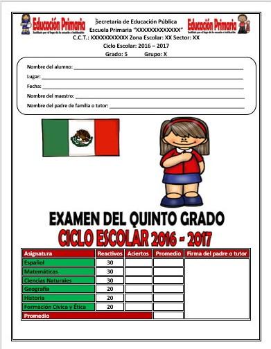 Examen del quinto grado para evaluar y elegir a la escolta escolar ...