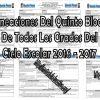 Planeaciones del quinto bloque de todos los grados del ciclo escolar 2016 – 2017