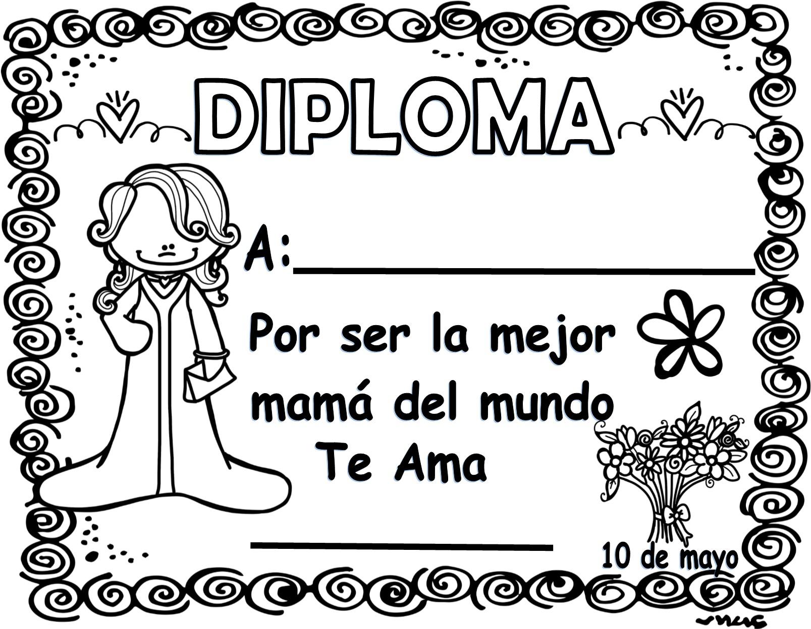Estupendos Y Lindos Diplomas Para El Día De Las Madres