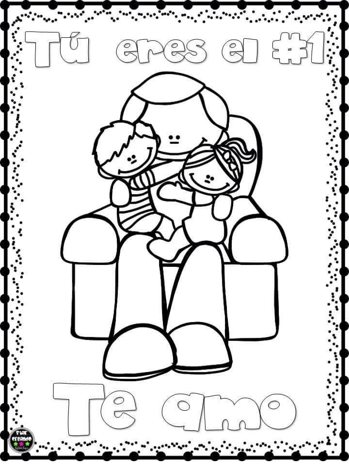 Lindos Dibujos Para Colorear Y Celebrar El Dia Del Padre Material
