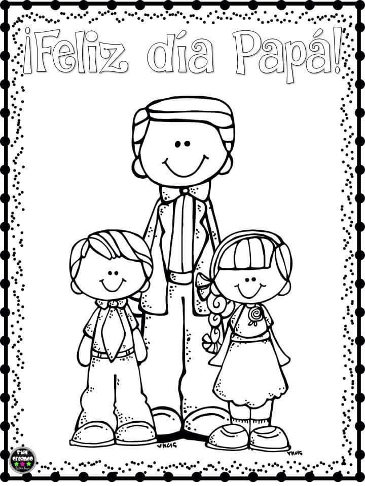 Lindos Dibujos Para Colorear Y Celebrar El Día Del Padre Material