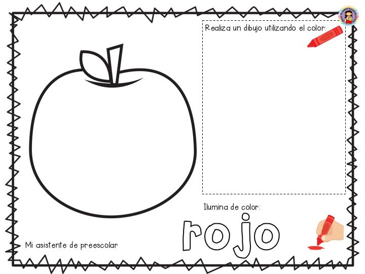 Pagina Para Colorear De Preescolar En Color Para Con: Maravilloso álbum De Colores Para Preescolar, Primer Y