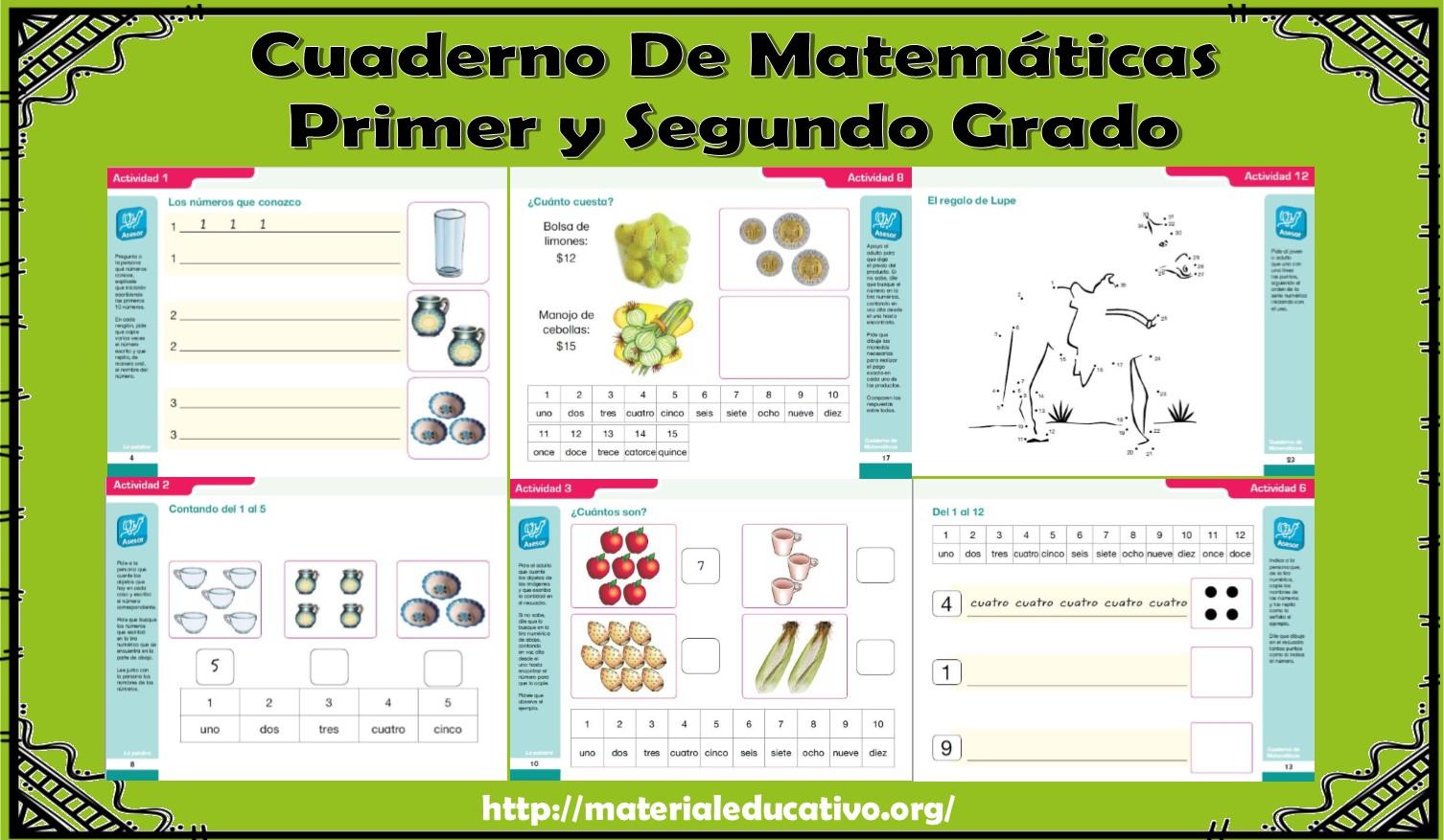 Maravilloso cuaderno de ejercicios de matemáticas para primer y ...