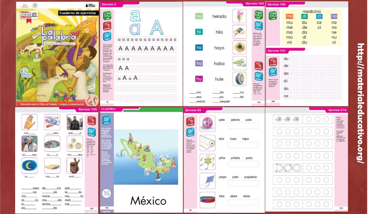 Excelente cuaderno de ejercicios de español para primer y ...