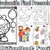 Excelente evaluación final para preescolar nivel de dificultad fácil