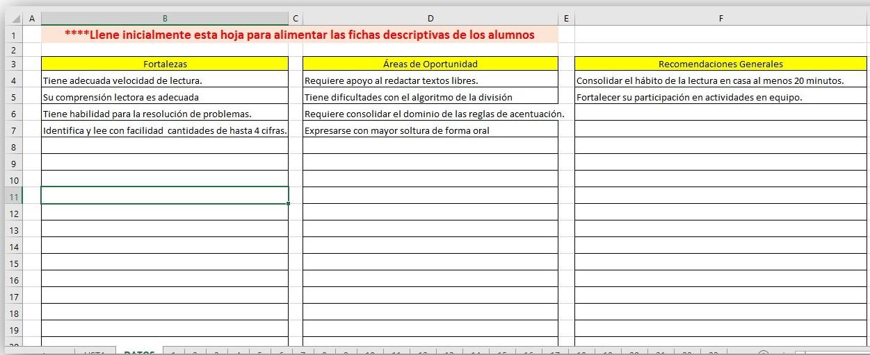 Excelente generador de fichas descriptivas en Excel   Material Educativo