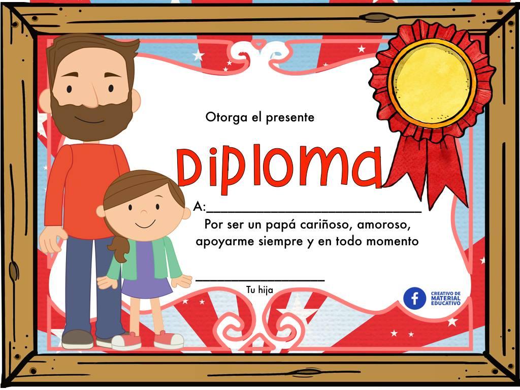 Fabulosos diplomas para premiar y reconocer la labor de pap en el