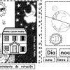 Fantástico material educativo para trabajar el día y la noche para preescolar, primer y segundo grado de primaria