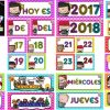 Estupendo calendario móvil ciclo escolar 2017 – 2018
