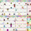 Fabulosos y lindos diseños de calendarios para los cumpleaños de nuestros alumnos