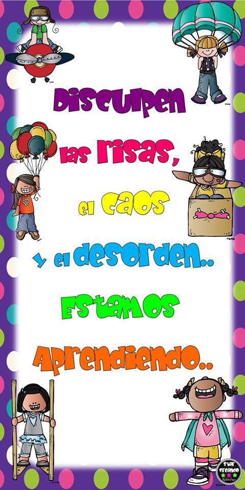 Cartel para colocar en la puerta de nuestra aula for Puertas decoradas educacion infantil
