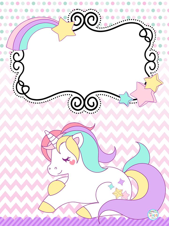 Book Cover Portadas Kawaii ~ Bonitas portadas de unicornios material educativo