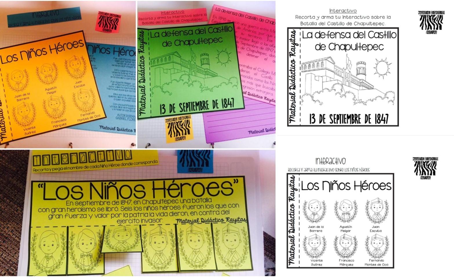 Fabuloso Material Interactivo De Los Niños Héroes Y La Defensa Del