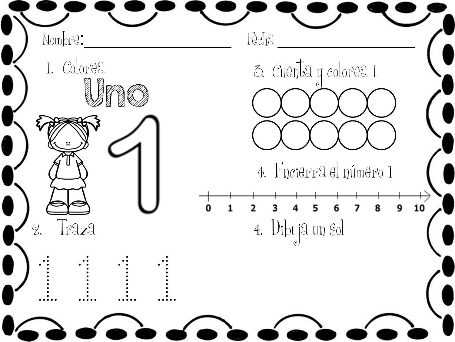 los nmeros en preescolar - photo #47