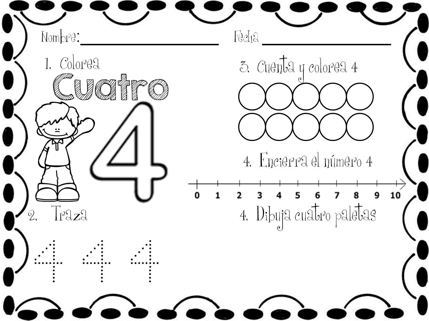Maravillosas Actividades De Números Para Preescolar Y