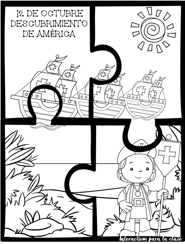 Dibujos Y Rompecabezas Del Descubrimiento De América 12 De Octubre