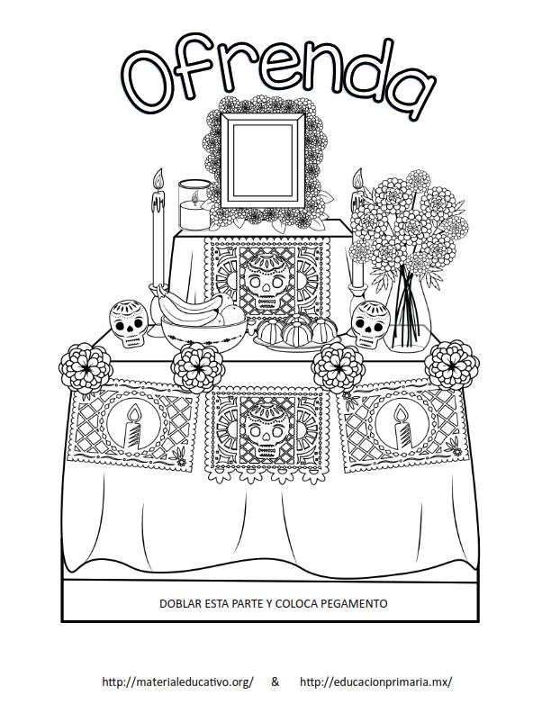 Fabulosa Lapbook De Día De Muertos La Ofrenda Y Sus