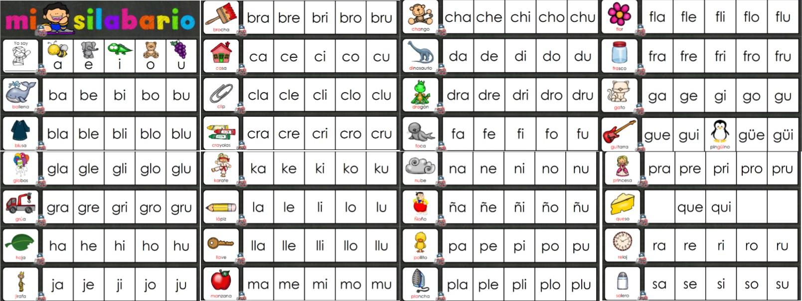 Fabuloso Mi Silabario Para Preescolar Primer Y Segundo Grado De