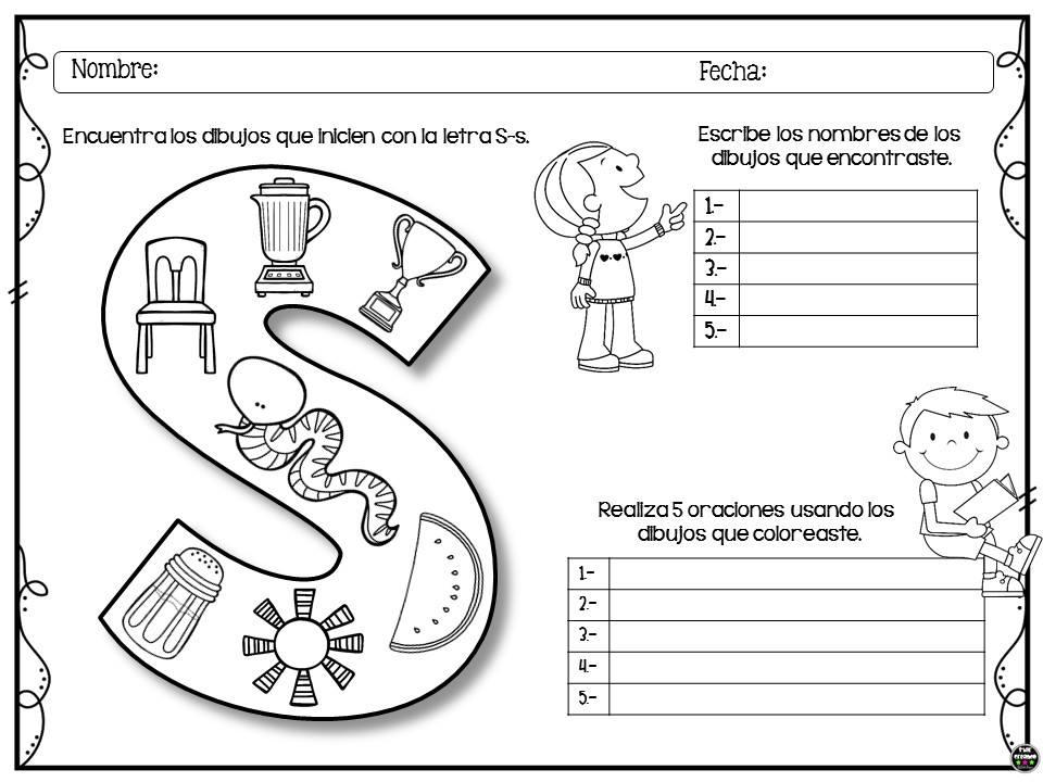 Dibujos Para Colorear De Preescolar: Colorea, Encuentra Y Escribe Para Preescolar Y Primer