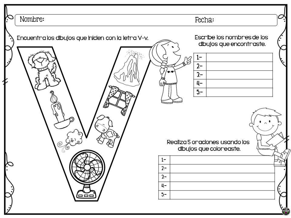 Colorea, encuentra y escribe para preescolar y primer ciclo de ...