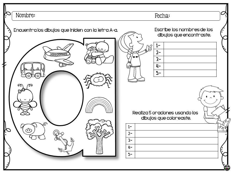 Colorea, Encuentra Y Escribe Para Preescolar Y Primer