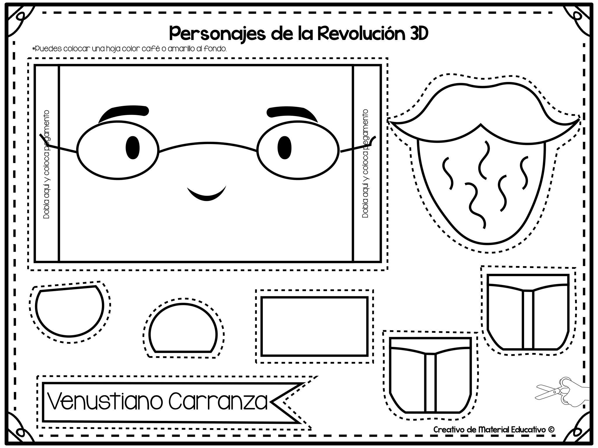 Estupendo Material Interactivo De Los Personajes De La Revolución