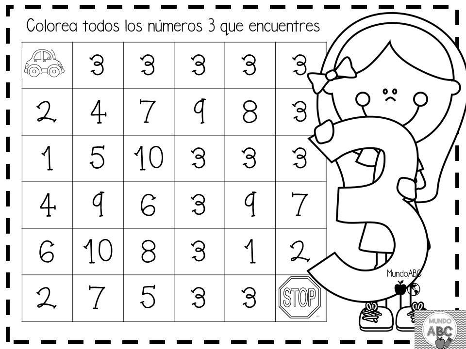 Geniales actividades para el trazo de los n meros del 1 al for Grado medio jardin de infancia