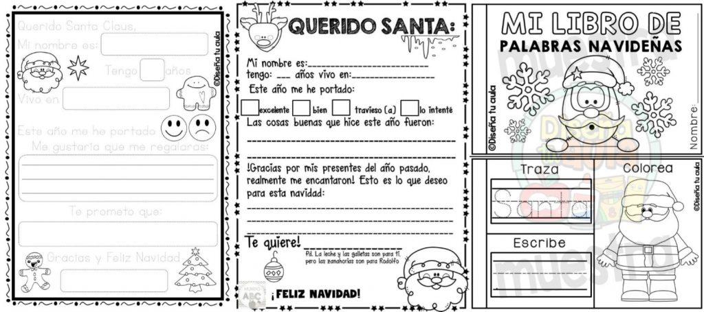 Fabuloso material creativo para realizar la Carta a Santa Claus y ...