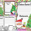 Lindos formatos para escribir la carta a Santa Claus
