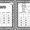 Maravilloso calendario de enero y febrero para organizar nuestras actividades