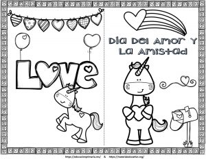Bonitas Tarjetas Del Día Del Amor Y La Amistad O San Valentín De
