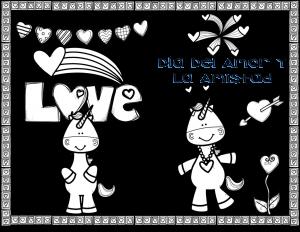 Bonitas Tarjetas Del Dia Del Amor Y La Amistad O San Valentin De Unicornios Material Educativo