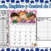 Calendario, registro de lectura diaria y control de libros del mes de febrero