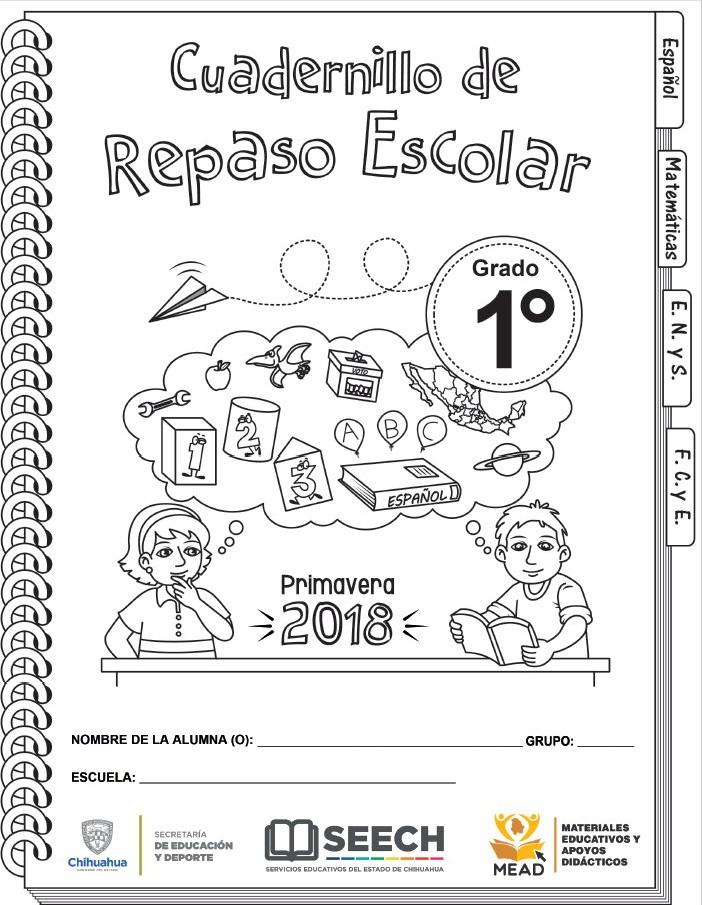 Cuadernillo de repaso escolar de primer grado de primaria primavera ...