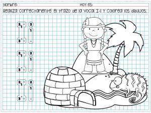Traza Vocales Y Colorea Los Dibujos Para Preescolar Y Primer