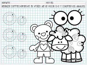 Traza Vocales Y Colorea Los Dibujos Para Preescolar Y Primer Grado