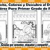 Suma, resta, colorea y descubre el dibujo de Benito Juárez de primer grado de primaria