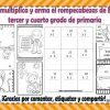 Suma, resta, multiplica y arma el rompecabezas de Benito Juárez para tercer y cuarto grado de primaria