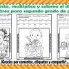 Suma, resta, multiplica y colorea el dibujo de Benito Juárez para segundo grado