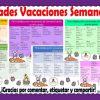 Excelente calendario de actividades para vacaciones de semana santa de preescolar y todos los grados de primaria