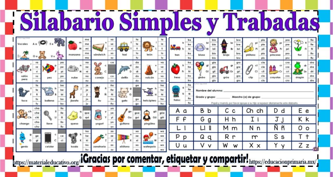 Excelente Silabario Simples Y Trabadas Material Educativo