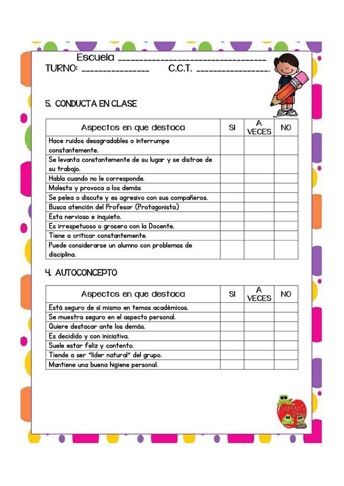 maravillosos formatos para la evaluaci u00f3n y seguimiento de