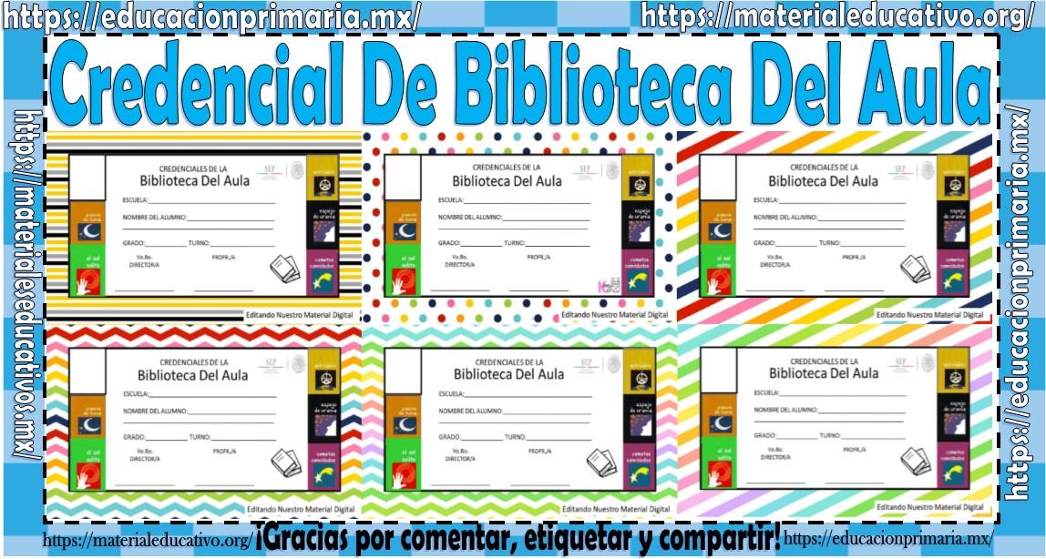 Maravillosa Credencial Para La Biblioteca Del Aula